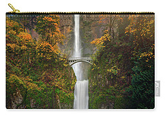 Multnomah Falls In Autumn Colors -panorama Carry-all Pouch