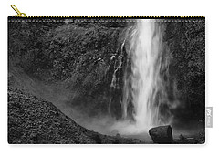 Multnomah Falls In Black And White Carry-all Pouch