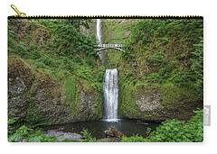 Carry-all Pouch featuring the photograph Multnomah Falls In Spring by Greg Nyquist