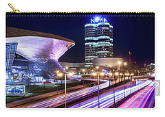 Munich - Bmw City At Night Carry-all Pouch by Hannes Cmarits