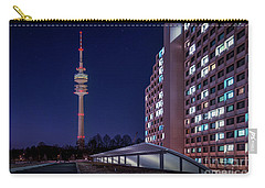 Munich - Olympictower And Village Carry-all Pouch by Hannes Cmarits