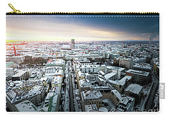 Carry-all Pouch featuring the photograph Munich - Sunrise At A Winter Day by Hannes Cmarits