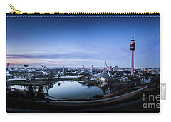 Carry-all Pouch featuring the photograph Munich - Watching The Sunset At The Olympiapark by Hannes Cmarits