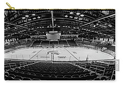 Munn Ice Arena Black And White  Carry-all Pouch by John McGraw