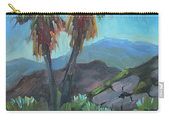 Carry-all Pouch featuring the painting Murray Trail Andreas Canyon by Diane McClary
