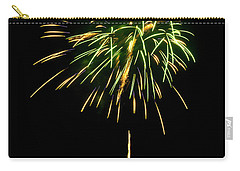 Carry-all Pouch featuring the photograph Murrells Inlet Fireworks by Bill Barber