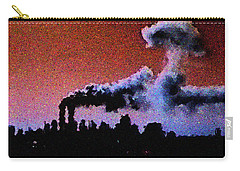 Carry-all Pouch featuring the digital art Mushroom Cloud From Flight 175 by James Kosior