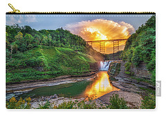 Mushroom Cloud Over Upper Falls Carry-all Pouch by Mark Papke