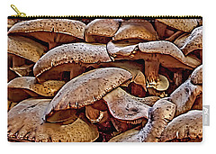 Carry-all Pouch featuring the photograph Mushroom Colony by Bill Gallagher