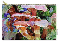 Carry-all Pouch featuring the painting Mushroom Garden by Sandy McIntire