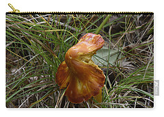 Carry-all Pouch featuring the photograph Mushroom In Grass by Paul Freidlund