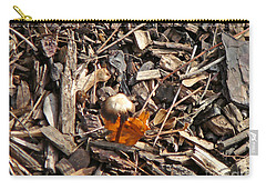 Mushroom With Autumn Leaf Carry-all Pouch