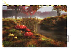 Mushrooms And River Carry-all Pouch