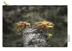 Mushrooms Atop Birch Carry-all Pouch