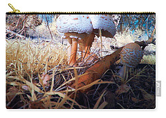 Mushrooms In The Grass Carry-all Pouch