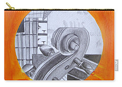 Carry-all Pouch featuring the painting Music 3 by Maria Langgle