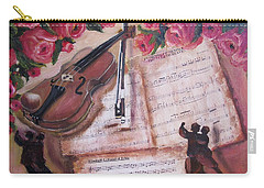 Music And Roses Carry-all Pouch