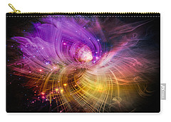 Carry-all Pouch featuring the digital art Music From Heaven by Carolyn Marshall
