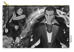 Music Is Magic - Black And White Fantasy Art Carry-all Pouch