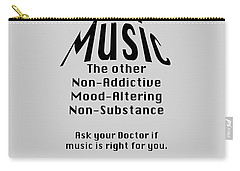 Music Is Right For You 5502.02 Carry-all Pouch by M K  Miller