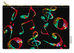 Carry-all Pouch featuring the digital art Music Notes by John Stuart Webbstock
