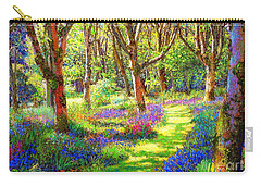Music Of Light, Bluebell Woods Carry-all Pouch by Jane Small