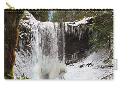 Carry-all Pouch featuring the photograph Music Of Nature - Waterfall Art by Jordan Blackstone