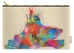 Carry-all Pouch featuring the digital art Music Strikes Fire From The Heart by Nikki Marie Smith