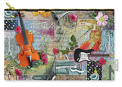 Musical Garden Collage Carry-all Pouch