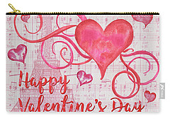 Musical Valentine Carry-all Pouch by Debbie DeWitt