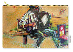 Musician With Accordion Carry-all Pouch