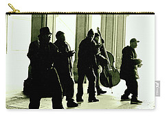 Musicians In The Park Carry-all Pouch by Sandy Moulder