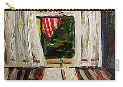 Musing-glory Through The Window Carry-all Pouch