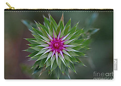 Musk Thistle Bloom Carry-all Pouch by John Roberts