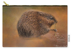 Muskrat Snack Carry-all Pouch by Geraldine DeBoer