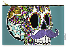 Mustache Sugar Skull Carry-all Pouch