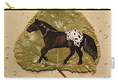 Mustang Appaloosa On Poplar Leaf Carry-all Pouch