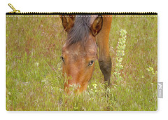 Mustang In The Grass Carry-all Pouch