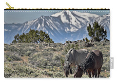 Mustangs In The Sierra Nevada Mountains Carry-all Pouch