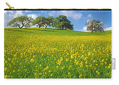 Carry-all Pouch featuring the photograph Mustard Field by Mark Greenberg
