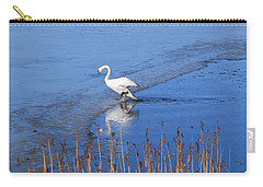 Mute Swan Climbs On The Ice Carry-all Pouch
