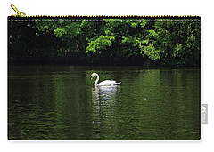 Carry-all Pouch featuring the photograph Mute Swan by Sandy Keeton