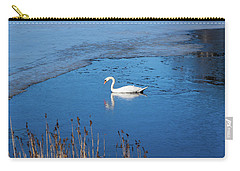 Mute Swan Swimming Carry-all Pouch