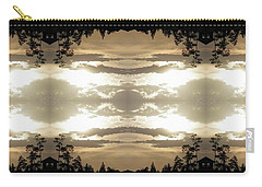 Carry-all Pouch featuring the digital art Muted Sunset Design by Ellen Barron O'Reilly