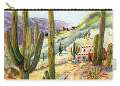 Carry-all Pouch featuring the painting My Adobe Hacienda by Marilyn Smith