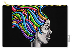 Abstract Female Face Artwork - My Attitude Carry-all Pouch