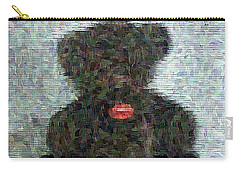 Carry-all Pouch featuring the digital art My Bear by Lucia Sirna