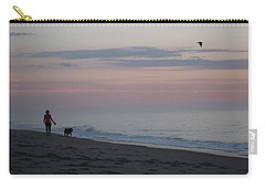 My Best Friend And The Beach Carry-all Pouch by Robert Banach