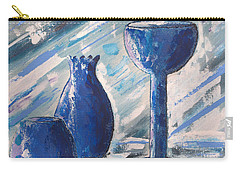 My Blue Vases Carry-all Pouch by J R Seymour