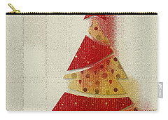 Carry-all Pouch featuring the digital art My Christmas Tree 02 - Happy Holidays by Aimelle